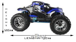 Fast Nitro Petrol Rc Remote Controlled off road Monster truck 1/10 Scale 2.4ghz