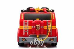 Fire Truck 4 Wheel Drive Kids Ride Battery Powered Electric Car withRemote Control