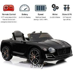 For Bentley 12V Kids Ride On Truck Car withRemote Control LED Lights 2 Speed Music