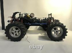 Gas Powered RC Remote Controlled Traxxas Car / Truck With 4 Extra Tires