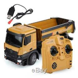 HUINA 1/14 Remote Control RC Car 2.4Ghz Dumping Truck Engineering Vehicle Toys