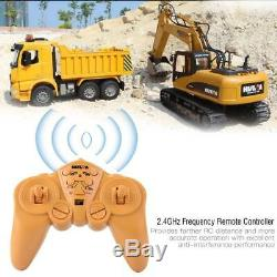 HUINA 1550 114 15CH Alloy Remote Control Excavator Truck RC Engineering Car