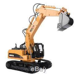 HUINA 1550 114 15CH Metal Remote Control Excavator Truck RC Engineering Car W