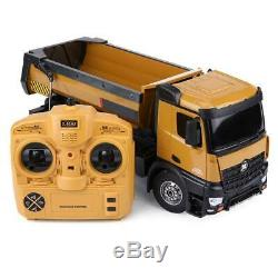 HUINA 1573 1/14 Remote Control RC Car 2.4G Dumping Truck Vehicle withLED Light