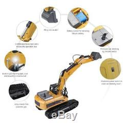 HUINA 3 in 1 RC Truck Excavator 2.4G Remote Control Tractor Vehicle Digger Car