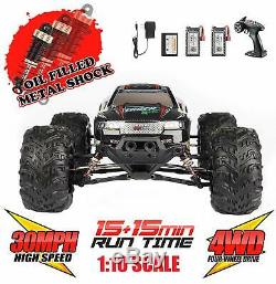Hosim 110 4WD 2.4Ghz RC Monster Truck Off-road Remote Control Car Upgraded 9125