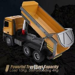 Huina 1/14 Size Construction RC Dump Truck Earthmover Remote Control 2.4G withLED