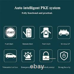 Keyless Entry One-button Start Alarm System Remote Kits Fit For Car Truck SUV