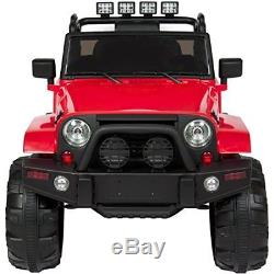 Kids Electric 2V Ride On Car Truck with Remote Control, 3 Speed, Light Red, New