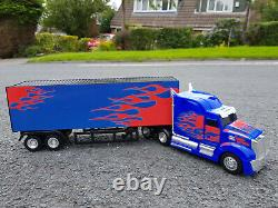 Large American Bird Flame Container Truck Lorry 57cmL Radio Remote Control Car