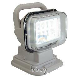 Marine LED Searchlight Boat Remote Control Spot Light for Off road Truck Car 50W