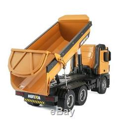 Metal Dump Truck RC Toy Huina Charging 114 With 10 Channel Remote Control Car