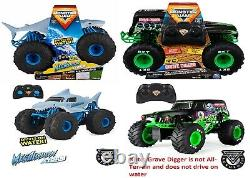 Monster Jam Official Grave Digger Megalodon Remote Control Truck 115 RC Car Fun
