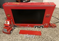 Rare Disney Cars TV Television Mack Movie Red Truck With McQueen Remote Works