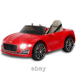 Red 12V Electric Kids Ride On Car Truck Toy Remote Control LED Music For Bentley