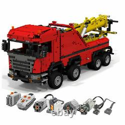 Scania 8x8 Extreme tow truck remote control Power Functio Technic Building Block