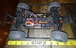 Set Of 2 Mini Scale Helion & Traxxas Rc Cars Untested As Is Truck No Remotes