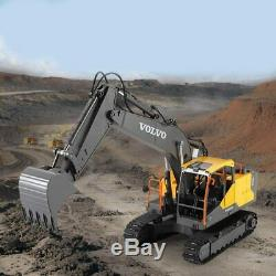 Toy for Kids Gift 1/16 RC Excavator 2.4G 17CH Remote Control Digger Truck Cars