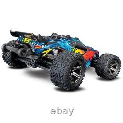 Traxxas 67076-4 Rustler 4x4 VXL Off Road Electric Remote Control RC Car, Red