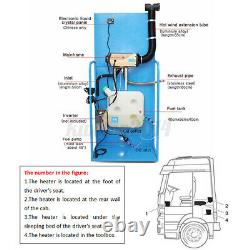 US 8KW 12V Diesel Air Heater Rotary Switch 10L Tank LCD Remote Car Truck Boat RV
