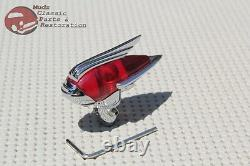 Vintage Classic Custom Car Truck Fender Guide Style Red Antenna Topper Hot Rod