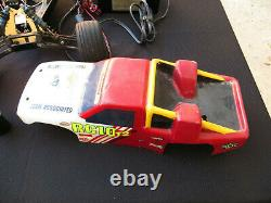 Vintage RC Car Truck Electric 2 Remotes Pro Tech Super Charger ASIS untested old