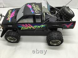Vintage TYCO BAJA BANDIT 9.6V TURBO RC Nissan CAR TRUCK Untested with Remote