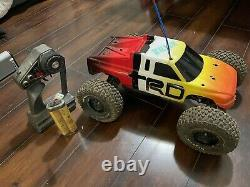 Vintage Traxxas Rustler Trophy Truck RC Car Axial With Remote And Battery