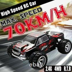 Wltoys 4WD RC Monster Truck Off-Road 2.4G Remote Control Buggy Crawler Car Gift